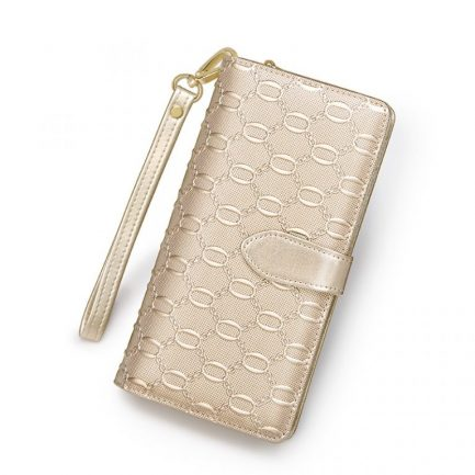 long women wallet foxer gold color