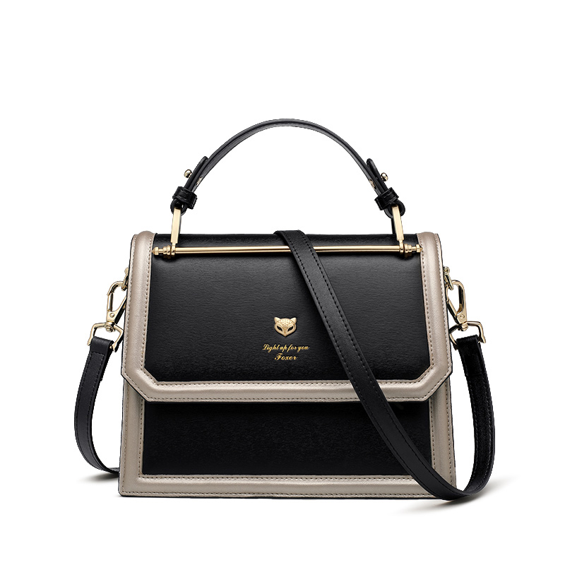 Foxer Twitch Split Leather Women Tote bags 3 colors