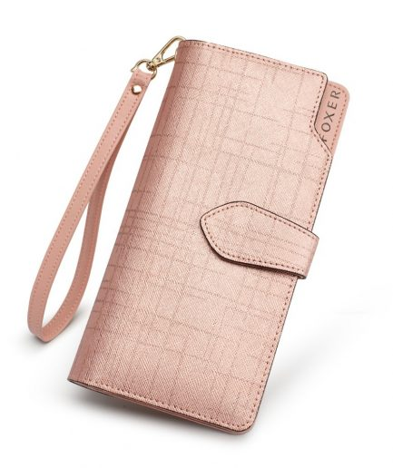 Foxer Bolsy Women Cowhide Leather Wallet 3 colors