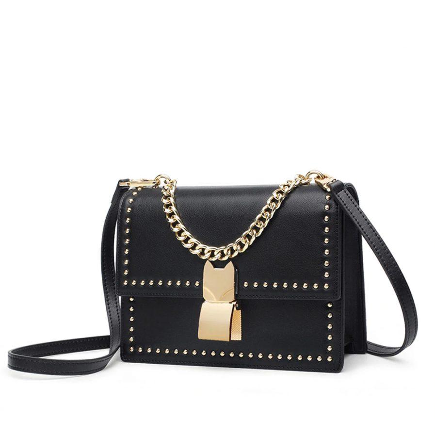 Foxer Lawy Women Leather Crossbody bag
