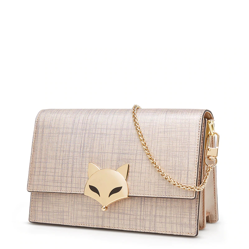 foxer leather crossbody gold bag