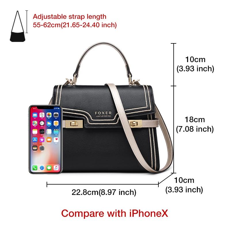 FOXER Gentle Messenger Bags Female luxury Stylish Shoulder Bags