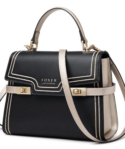 FOXER Gentle Messenger Bags Female luxury Stylish Shoulder Bags