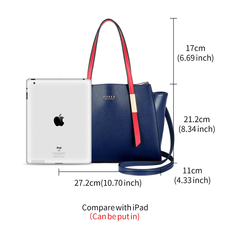 Foxer Occy Style Tote Women High Quality Leather Shoulder Bags 2 colors