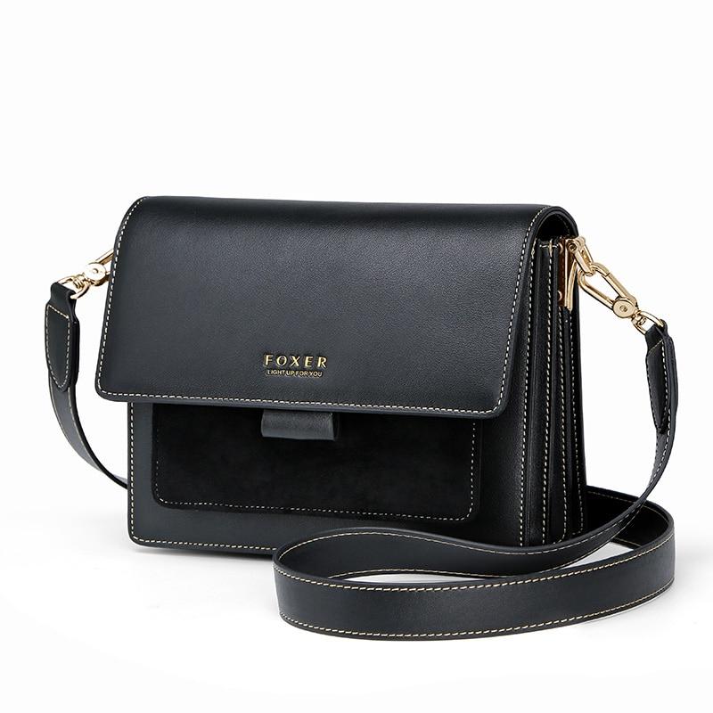 FOXER Flapy Women Shoulder Bag Leather 4 colors