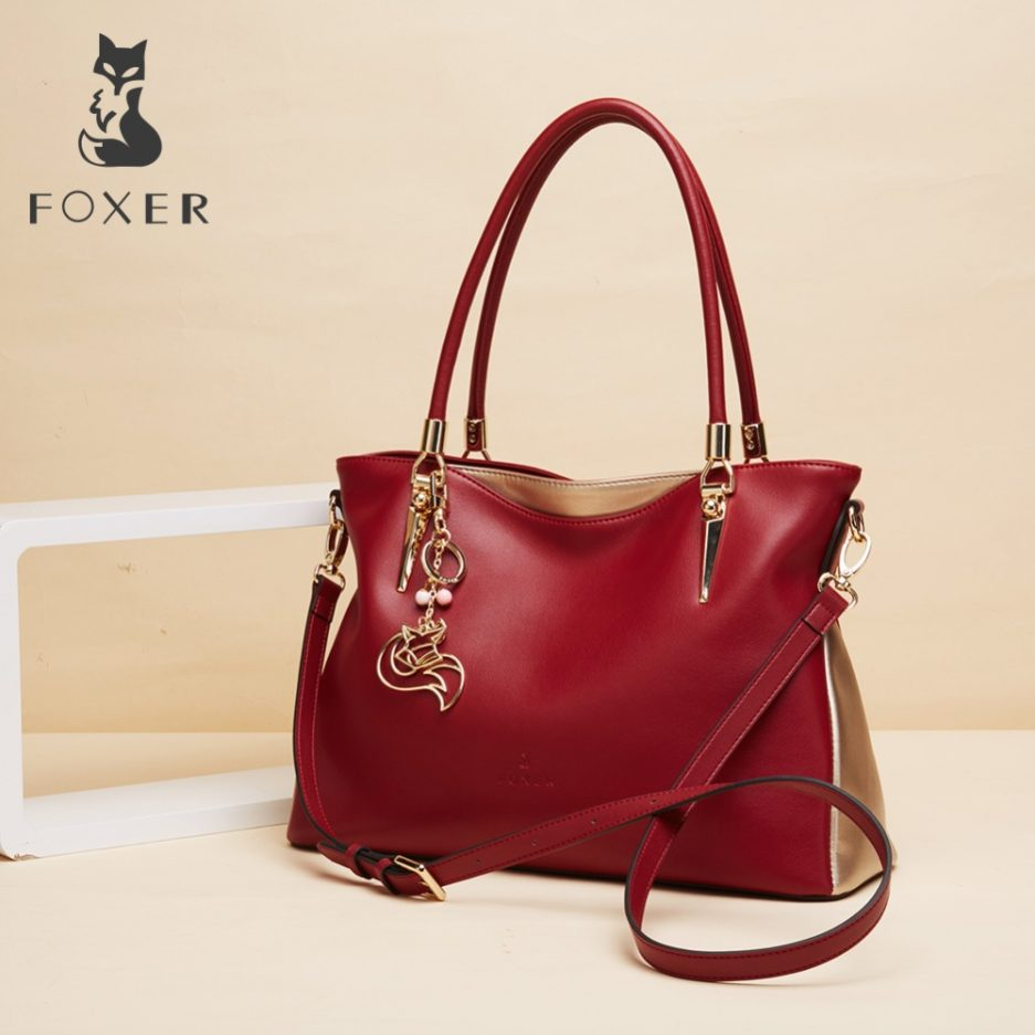 FOXER Solidy Women Genuine Leather Handbag 2 color