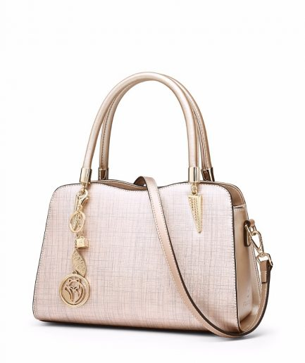 FOXER Shoty Women Handbag Split Leather Light Pink