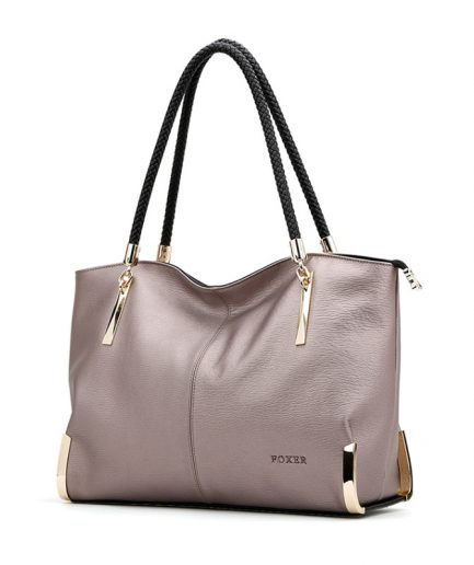 FOXER Ringy Women Handbag Female Cow Leather Totes 2 colors