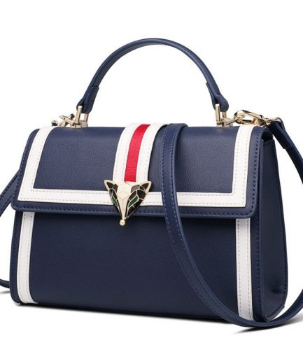 FOXER Patry Women Leather Shoulder Bags Blue