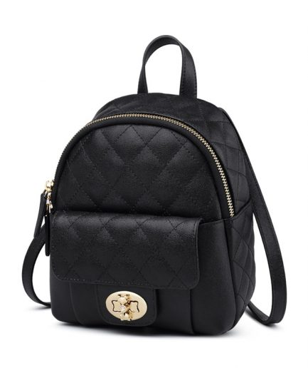Foxer Detty Women Backpack Split Leather Designer Black