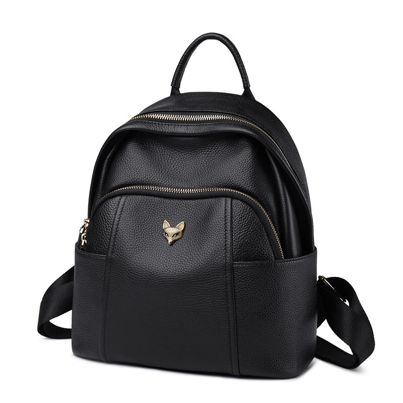 Foxer Ricky Genuine Leather Women Backpack Black