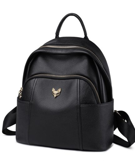 Foxer Aromy Genuine Leather Women Backpack Black