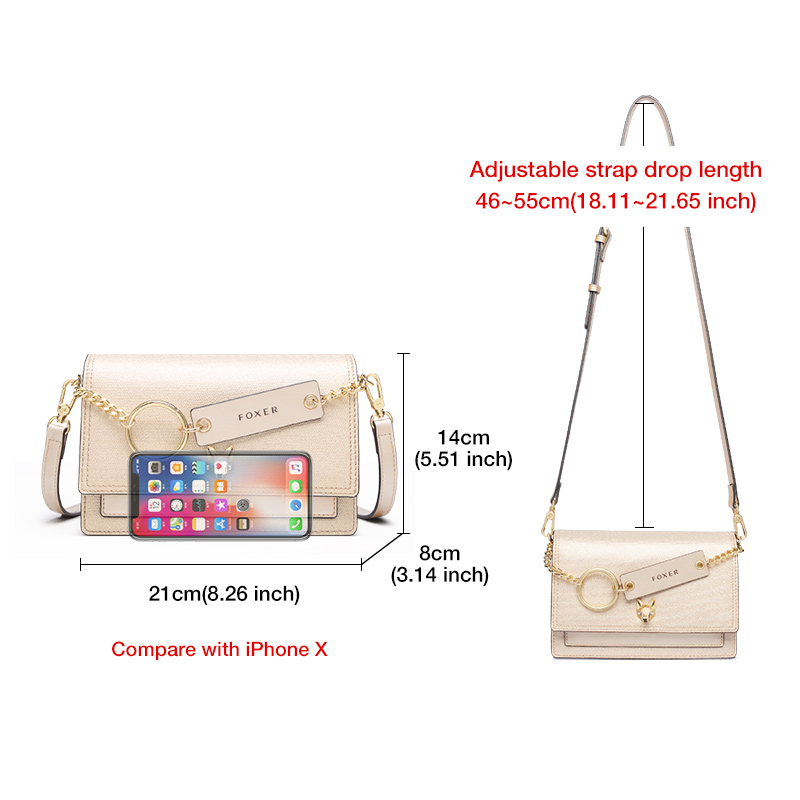 Foxer Tisy Leather Crossbody Bag Fashion Women