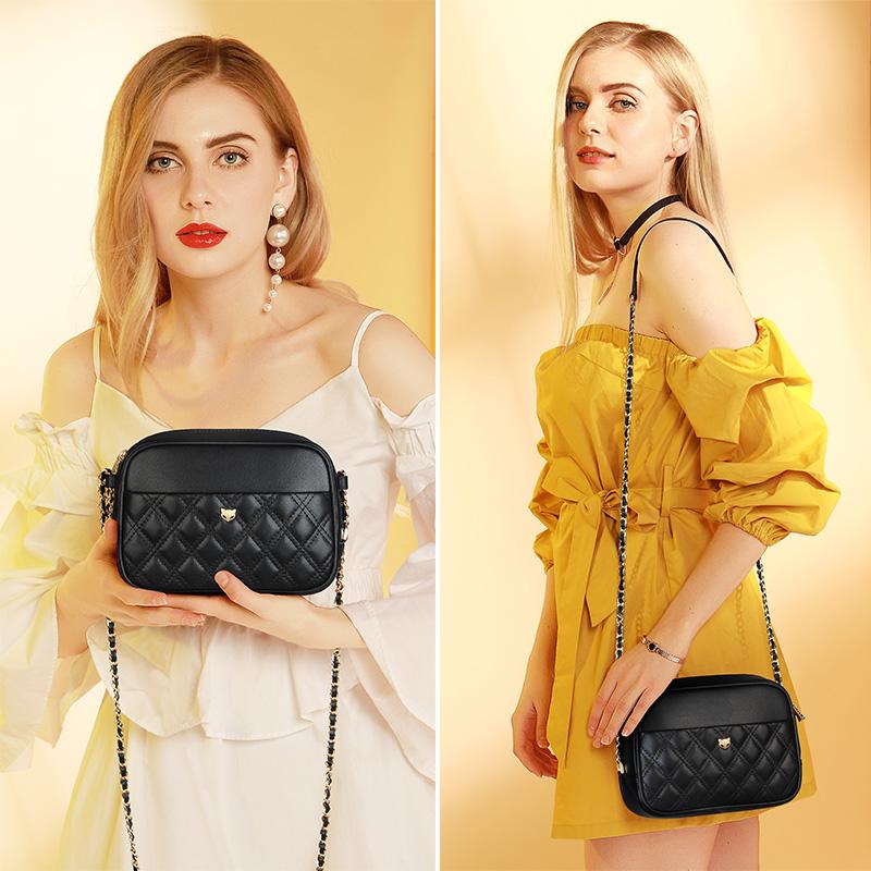 Foxer Widy Cowhide Leather Shoulder Bag Women