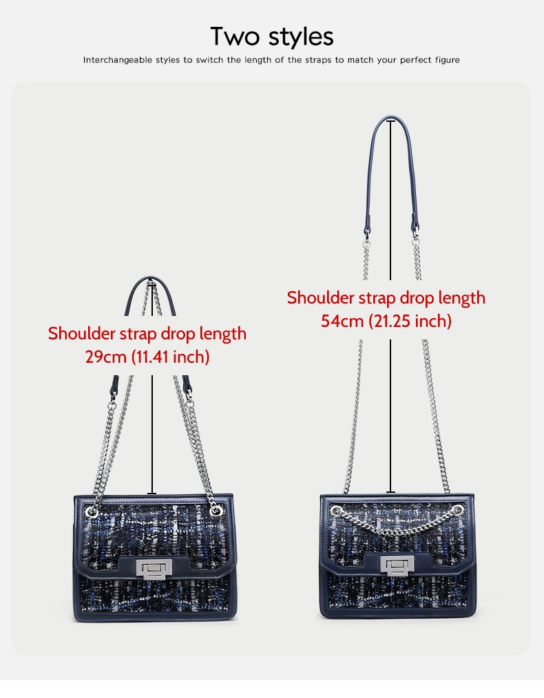 FOXER Lady Brand Design Chain Strap Messenger Bags Female Shoulder Bag New Fashion Crossbody Bag Women High Quality Elegant Flap