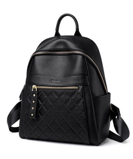 Foxer Rolly Genuine Leather Women Backpack Black