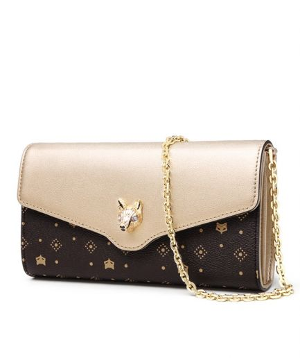 Foxer Flery Women Leather Purse with chain