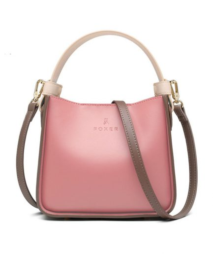 FOXER Bucket Women Leather Messenge Bag