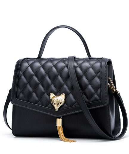 FOXER Crossy Women Leather Shoulder Bag Black