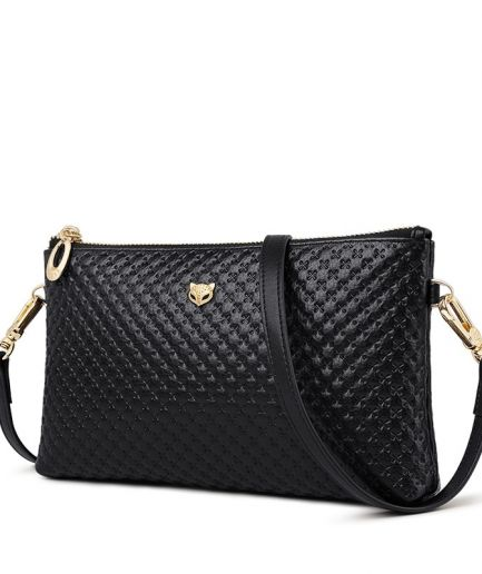 Foxer Chary Genuine Leather Women Crossbody Bags Black