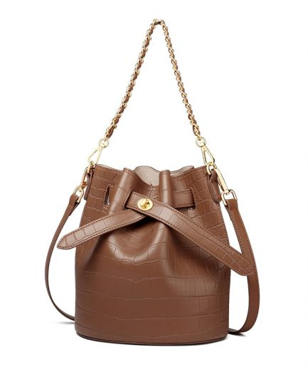 Foxer Levy Women Leather Fashion Bucket Bag