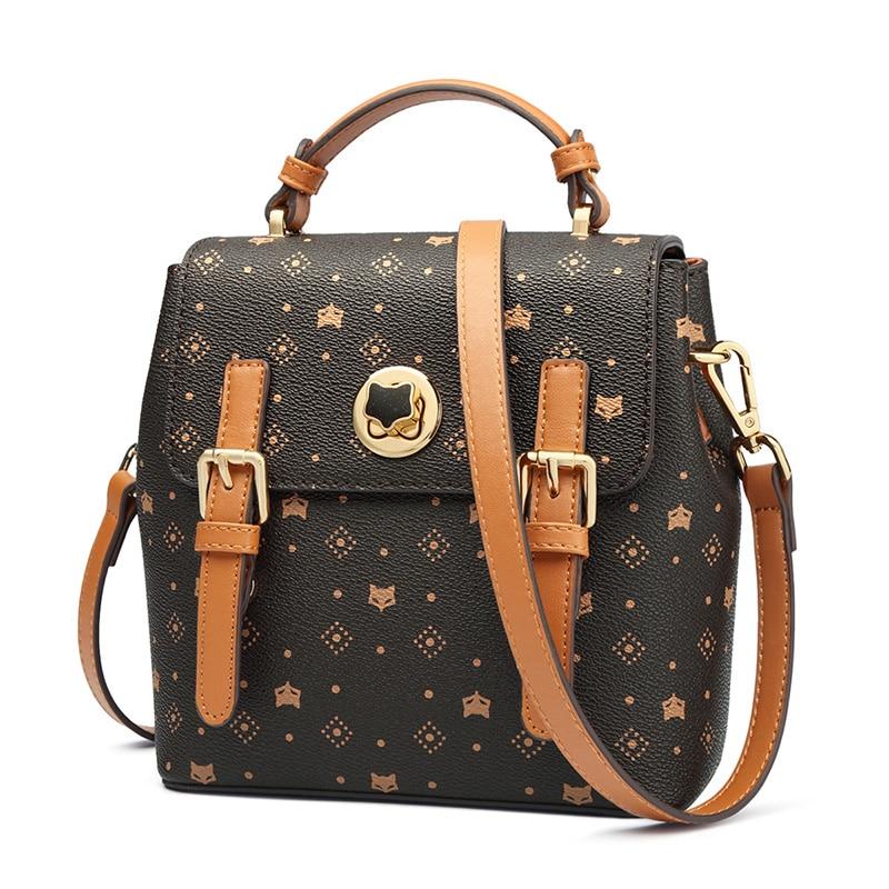 Foxer Theody Women PVC Leather Crossbody Shoulder Bag