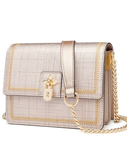 Foxer Toury Leather Women Crossbody Shoulder Bag