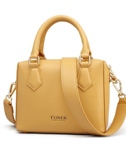 Foxon Bosty Women Handbag Leather Boston Bag