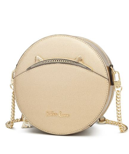 Foxer Hilry Women Leather Round Shoulder Bag
