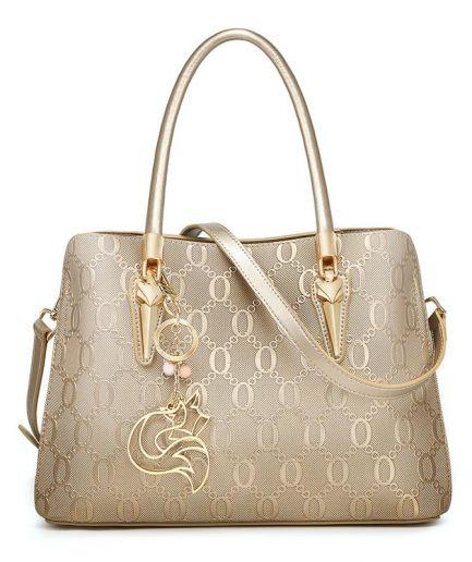 Foxer Jujy Women Leather Big Shoulder Bag