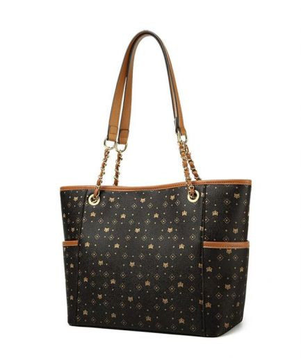Foxer Candy Monogram Women PVC Tote