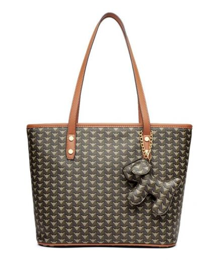 Foxer Louisy Women PVC Leather Lady Commute Tote