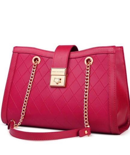 Foxer Wizy Women Split Leather Chain Shoulder Bag