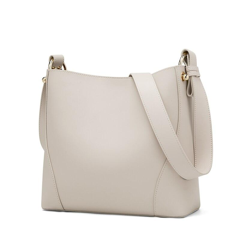 Foxer Shelty Cow Leather Bucket Bag women